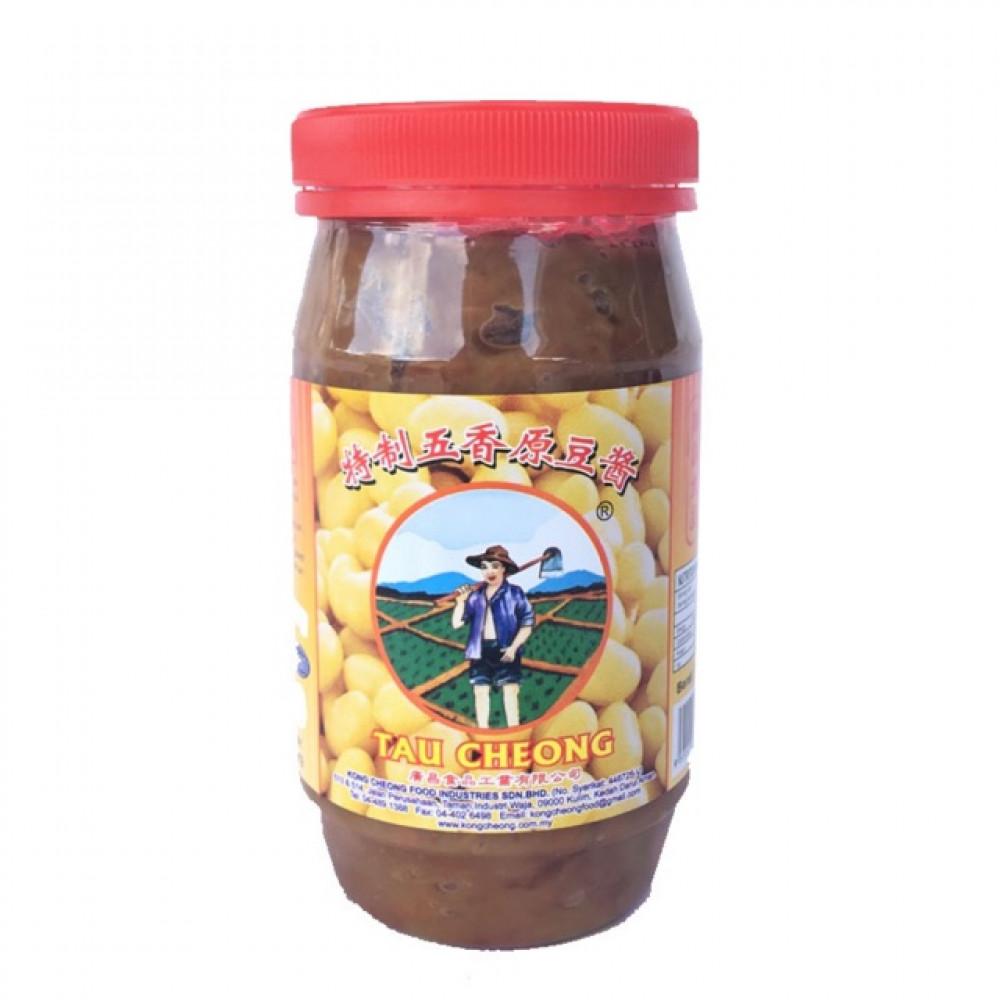 KONG CHEONG Fermented Bean Paste Grade A (Whole)-340g [Tauchu] 广昌农夫牌特制五香原豆酱(罐装)