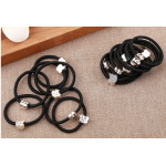 Hair Rubber Band With Gold Beads Hair Accessorie Rubber band