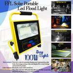 FFLighting Solar Portable Led Flood Light 100W Day Light
