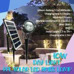 FFLighting Solar Led Spike Lamps 10W Day Light