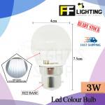 FFLighting Led Colour Bulb 3W B22 Day Light