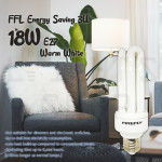 FFLighting Energy Saving 3U 18W E27 Warm White/Hyperpack