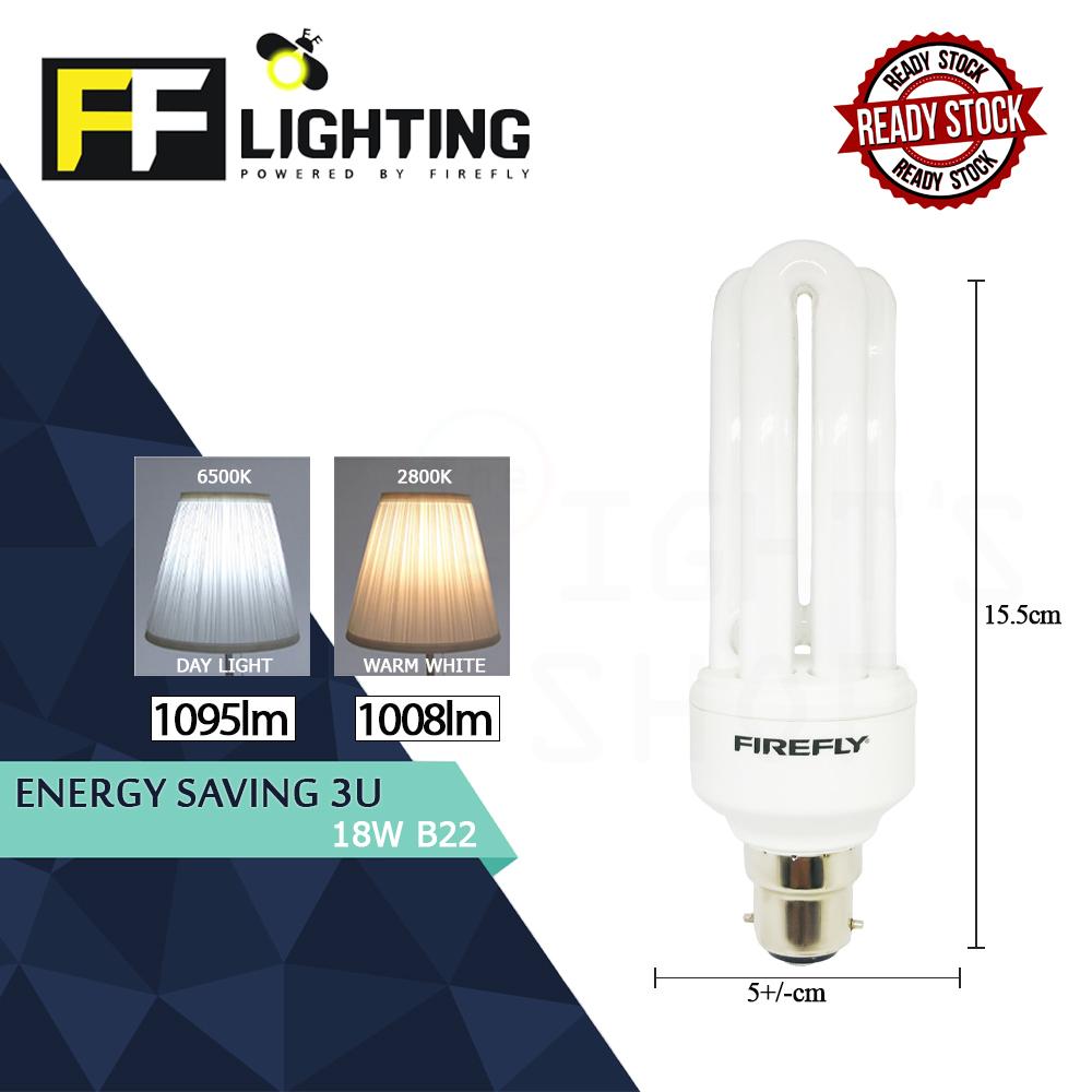 FFLighting Energy Saving 3U 18W B22 Day Light/Warm White