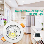 Led Moveable Eyeball COB 3W Day Light