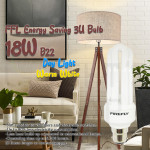 FFLighting Energy Saving 3U Bulb 18W B22 Day Light/Warm White