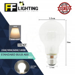 FFLighting Standard Bulb A60 25W/40W/60W/100W B22 Frost Warm White