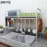 [HK1735] 304 Stainless Steel 1-2 Tier Bowl Dish Rack / Rak Pinggan Mangkuk