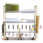 [HK1778] 304 Stainless Steel 1-2 Tier Bowl Dish Rack / Rak Pinggan Mangkuk