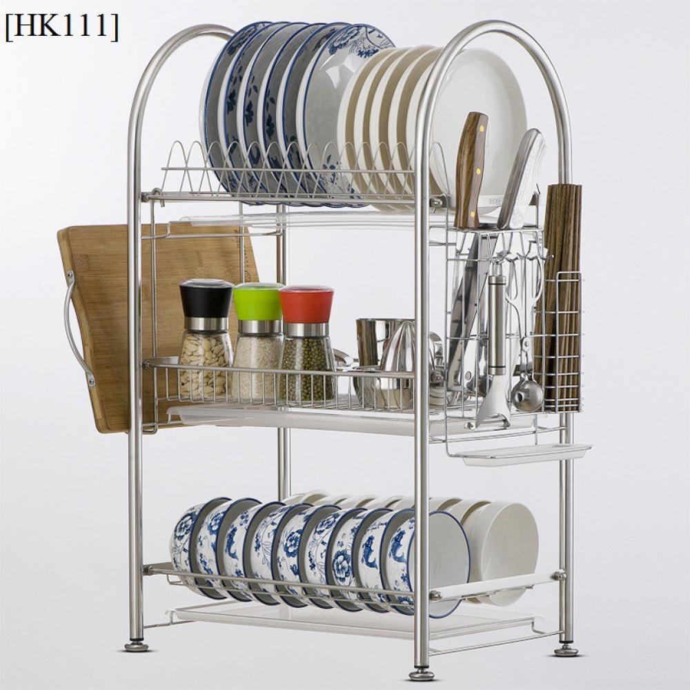 304 stainless steel 3 - Layer Bowl Dish Rack / Rak Pinggan