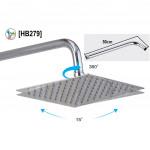 "[HB2789] 8"" Square Shower Head Stainless Steel Bathroom Ultra Thin Rain Shower"