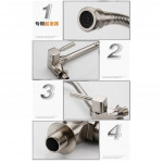 [HK514] 304 Stainless Steel Flexible Neck Hose Kitchen Sink Faucet Water Tap