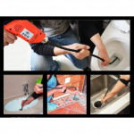 [OD2136] Professional Flexible Spring Toilet Sewer Drain Clog Cleaner Tools