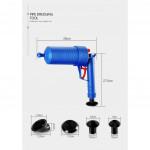 [OD115]Pressure Air Pump Gun Plunger Toilet Sink Drain Pipe Clog Cleaner Remover