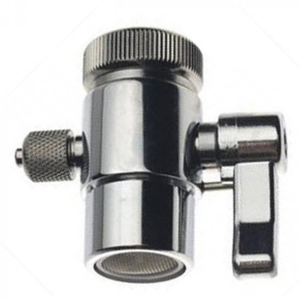 "1 Way Water Filter Diverter Valve For RO Water Filter Purifiers 3/8"" Tube"