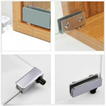 [HD231] Furniture/Cabinet Glass Door Pivot Hinge Chrome with Touch Latch Plate