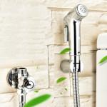 [HB6112] Handheld Shower Head Douche Faucet Toilet Bidet Spray Wash Holder Set