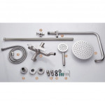 [HB295] Deluxe SUS304 Bath Rain Shower Exposed Shower Set For Water Heater/Round