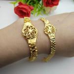 [PT235] Luxury Alluvial Gold Charm Bracelet Jewelry / Rantai Tangan Emas