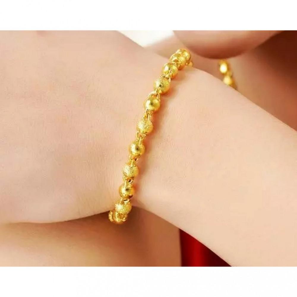 [PT214] Luxury 24K Alluvial Gold Charm Bracelet Jewelry / Rantai Tangan Emas