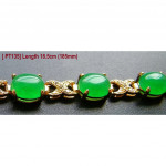 [PT135] Luxury Green Emerald Jade Gold Plating Korea Style Jewelry Bracelet