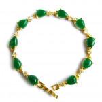 [PT131] Luxury Green Emerald Jade Gold Plating Korea Style Jewelry Bracelet
