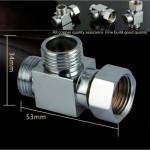 [HB861] Faucet Water Tap Brass Chrome TEE Adaptor Converter Bathroom Accessories