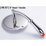 "Rainfall Pressurized Water Saving Handheld Bathroom 8"" Round Shower Head Set"