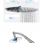 "Rainfall Pressurized Water Saving Handheld Bathroom 6"" Round Shower Head Set"