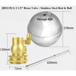 "[HO114] G 1 1/4"" (DN 32) / 21/2"" (DN65) Stainless Steel FLOAT VALVE with Stainless Steel ball"
