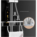 [HB288] Luxury Rain Shower Set with Bidet Spray For Water Heater / Square