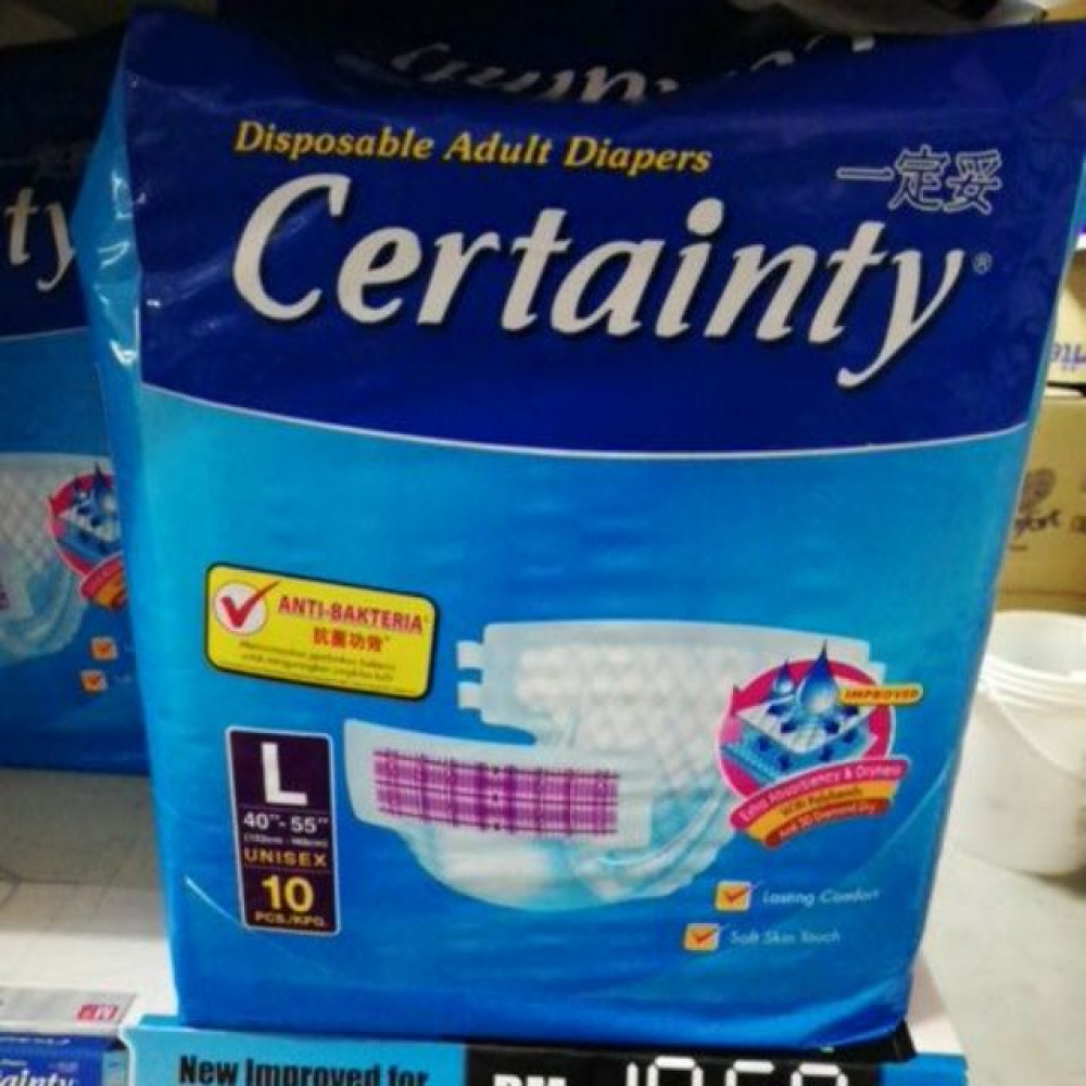 CERTAINTY ADULT DIAPERS L 10 (ORDER MAX 8 PACKS ! )