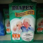 DIAPEX BASIC ADULT DIAPERS M10/L8