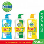 dettol profresh 950ml foc 250ml refill