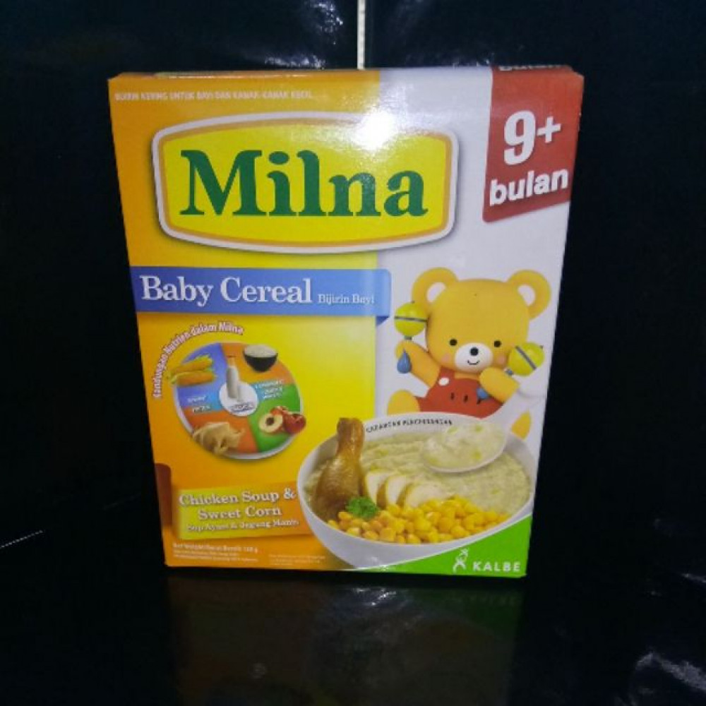 MILNA BABY CEREAL CHICKEN SOUP & SWEET CORN 120G