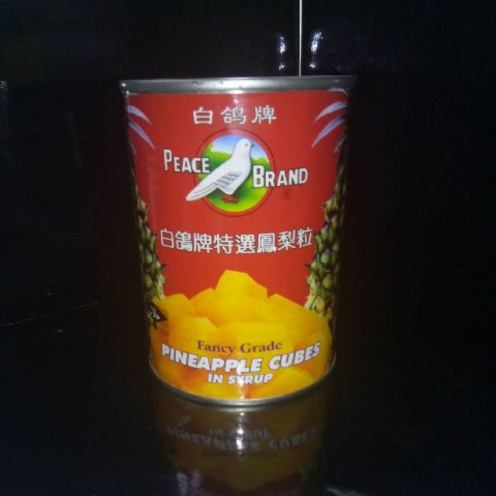 PEACE BRAND PINEAPPLE CUBES IN SYRUP 565G