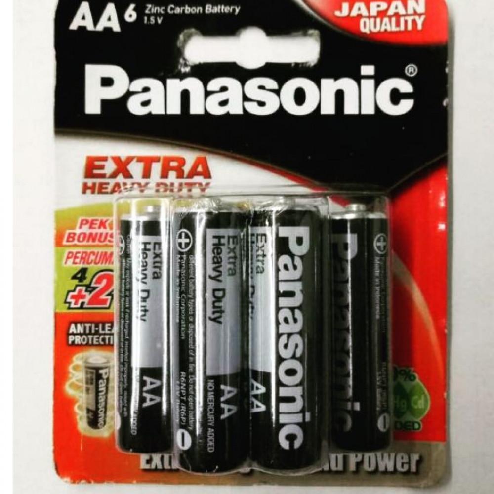 PANASONIC EXTRA HEAVY DUTY 4+2PCS AA BATTERY
