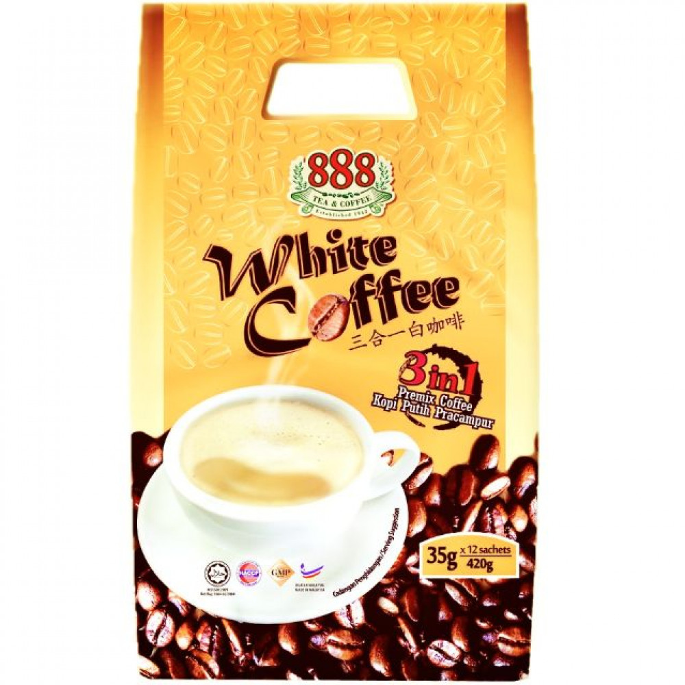888 WHITE COFFEE 3IN1 (35G X 12SAC )