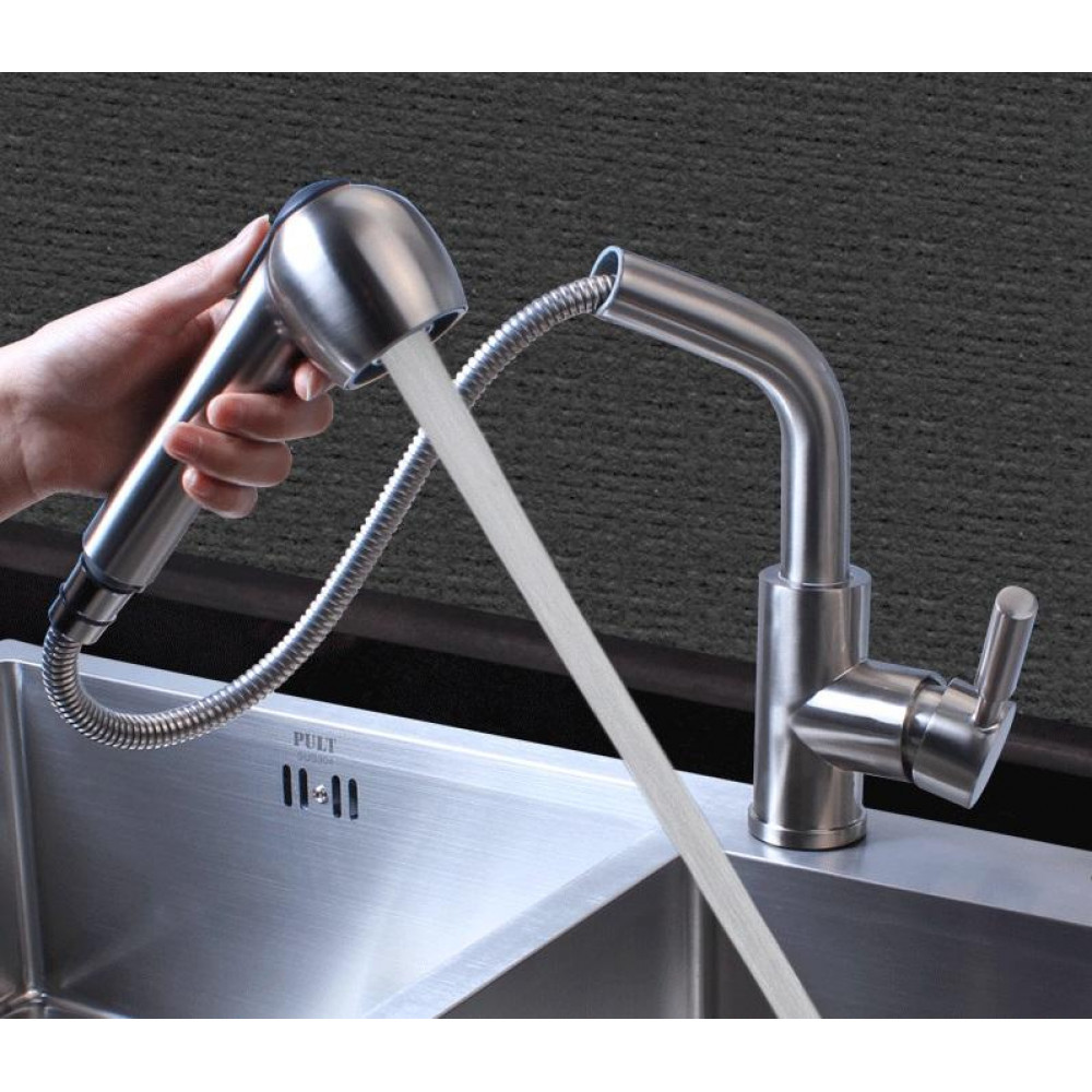 304 Stainless Steel Pullout Kitchen Spray Tap ( Shower Head Type )