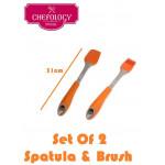Chefology Silicone Spatula & Brush
