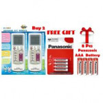 Universal Aircon Remote Control 2 UNITS FREE 8 Pcs Battery