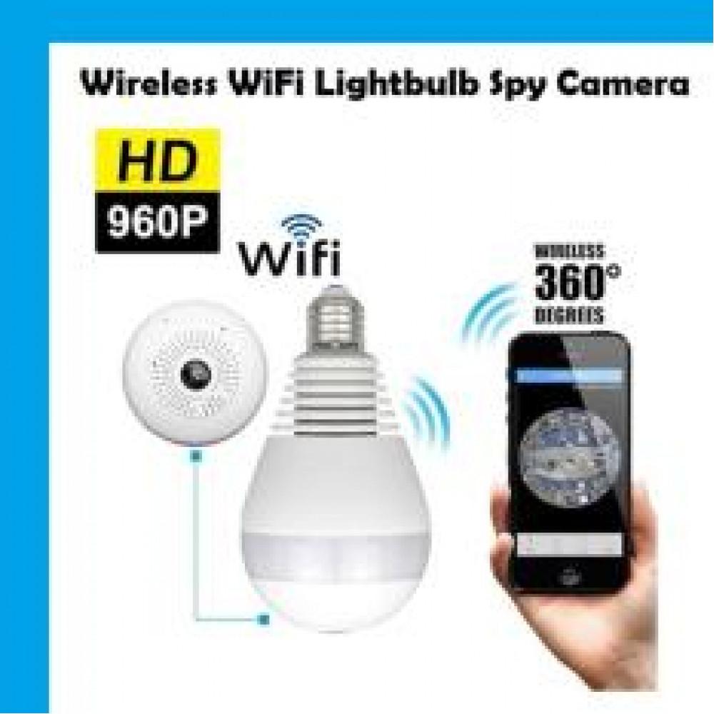 Lightbulb camera 360 degrees using WIFI.