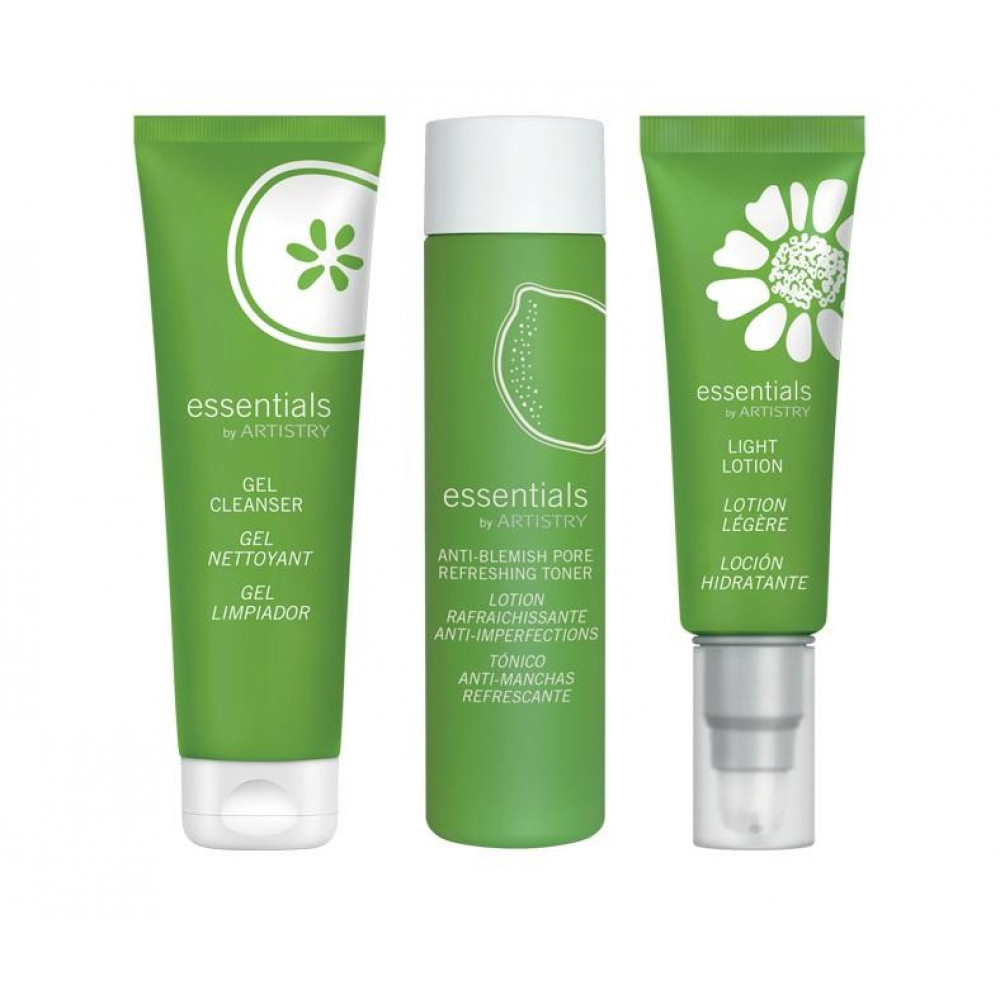 Amway essentials by ARTISTRY 3-Step Skin Care Set