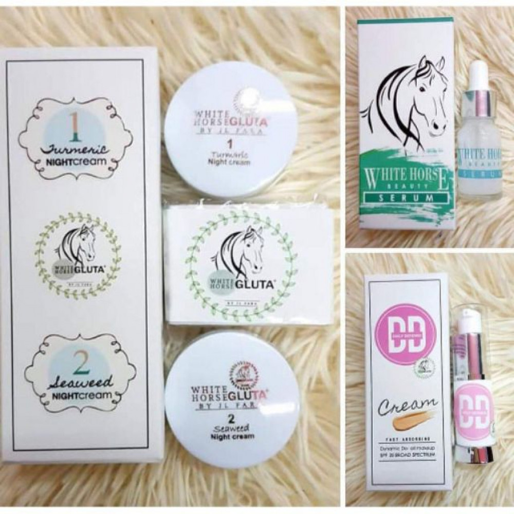ORIGINAL‼️ WHITE HORSE GLUTA 3IN1/DD CREAM/SERUM WITH KKM
