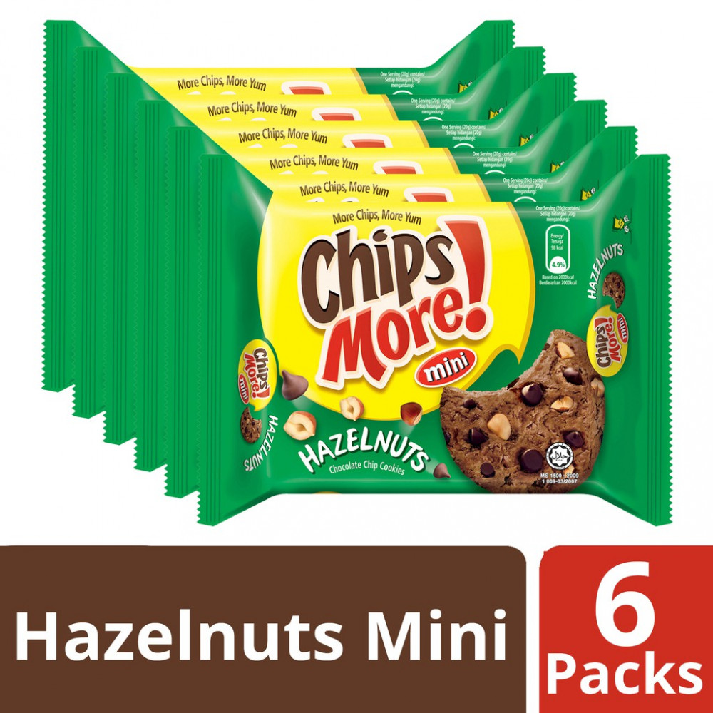 Chipsmore Hazelnuts Cookies (88g x 6)