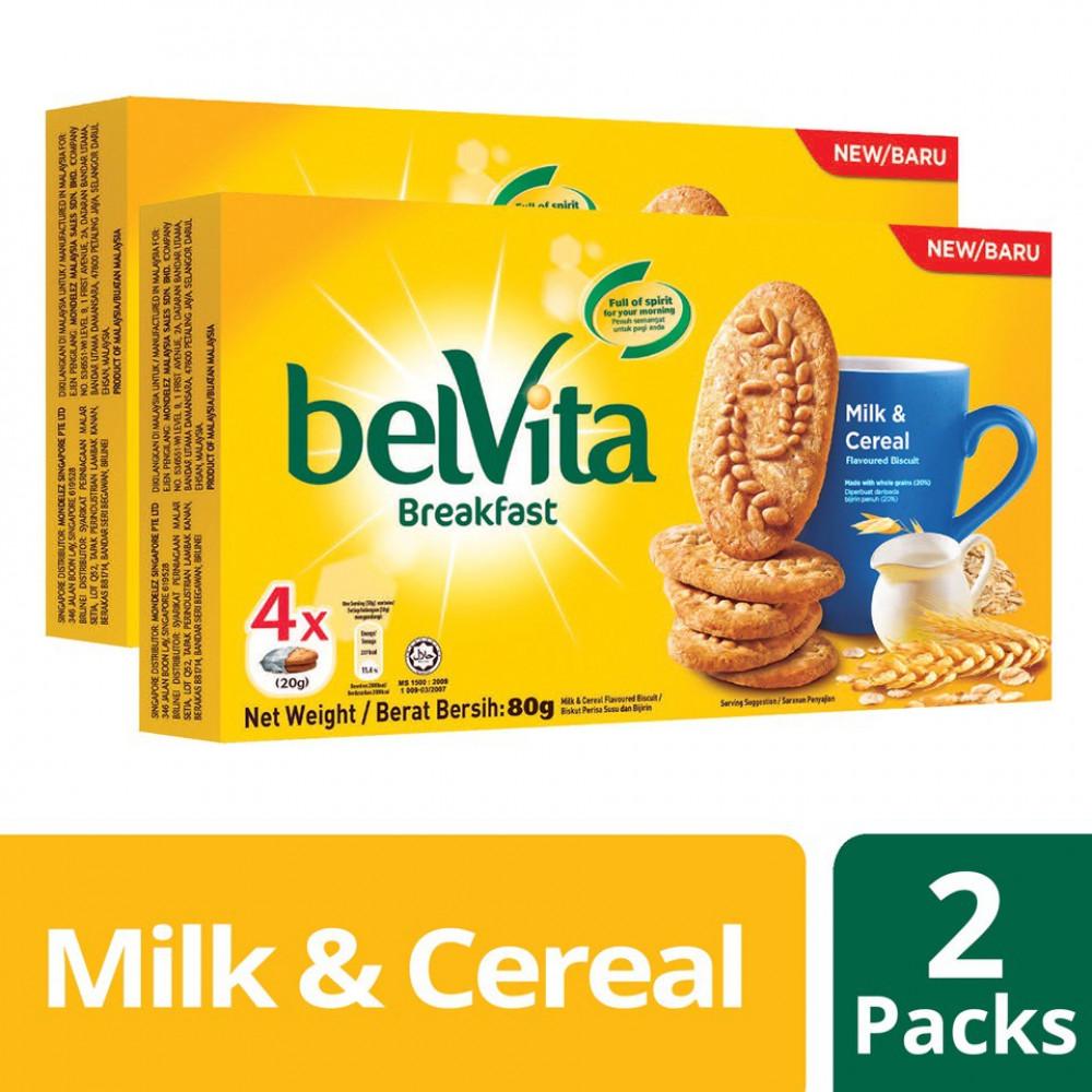 Belvita Breakfast - Milk & Cereal (80g x 2)
