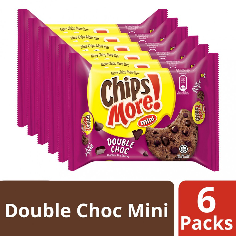 Chipsmore Double Choc Cookies Handy (88g x 6)