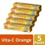 Halls Vita-C Stick Candy - Orange Mint (34g x 5)
