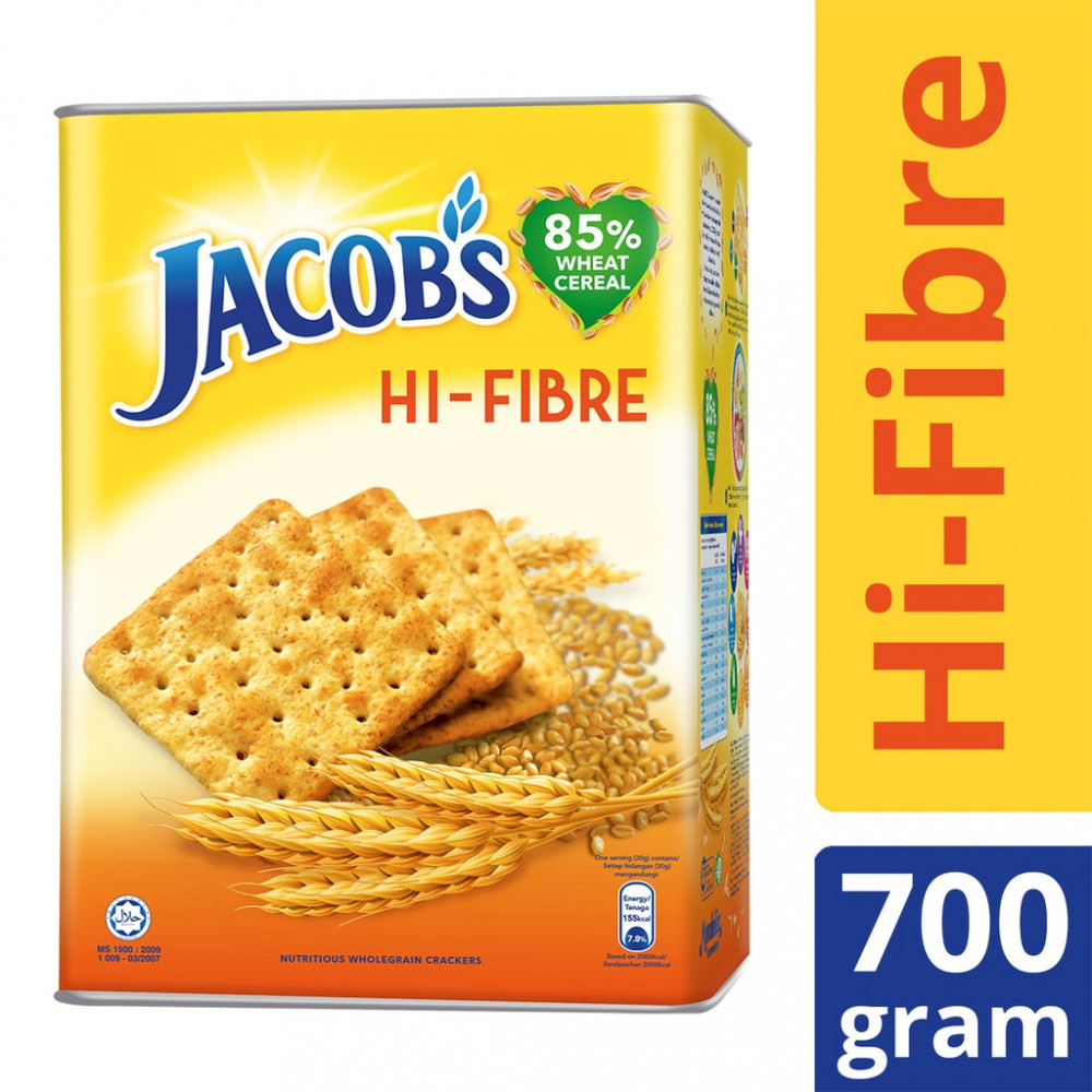 Jacob's High Fibre Crackers Tin (700g)