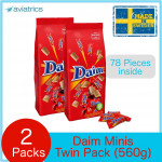 Daim Chocolate 78 minis Twin Travel Pack 560g EXP: Jan2020 (Made in Sweden)