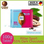 Ritter Sport 74% Intense Dark Chocolate Bar Peru Cocoa 100g (Made in Germany)